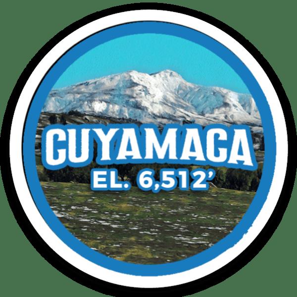 Cuyamaca Peak sticker