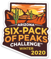 2020 Arizona Winter Six-Pack of Peaks logo