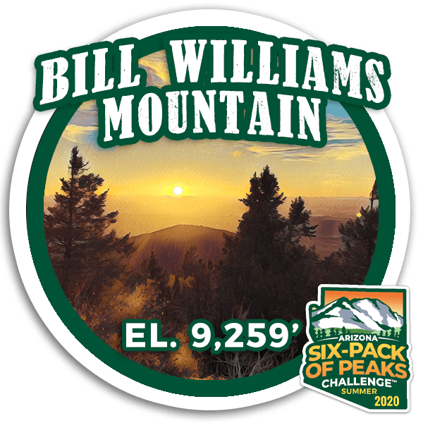 2020 Bill Williams Mountain badge
