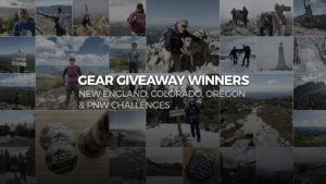 Gear Giveaway Winners