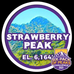 2021 Strawberry Peak badge