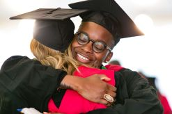 Students hugging