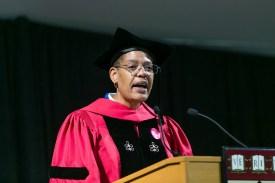 Dean Michelle Williams speaking