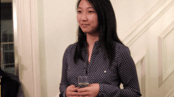 Amy Wu, a recent Harvard graduate, spoke briefly about her semester abroad conducting research at the Botswana Harvard Partnership (BHP).