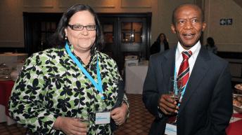 Lisa Mills and Joseph Makhema