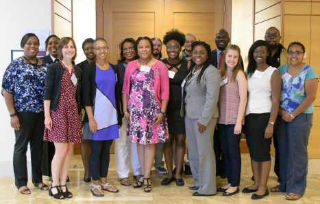 Alumni attending the symposium