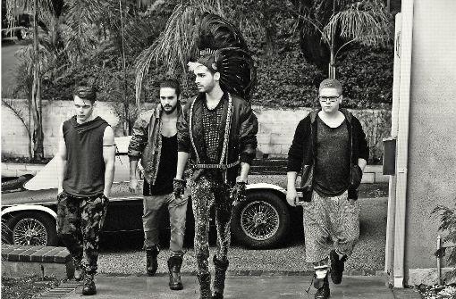 Die Zwillinge von Tokio Hotel (Bild Mitte) leben in Los Angeles. Foto: Universal Music/Lado Alexi