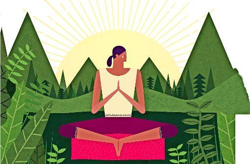 Ommm: Wer täglich meditiert, entwickelt ein gewisses Maß an Selbstakzeptanz. Foto: mauritius