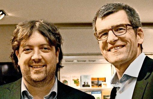 Markus Grabitz (re.) ist der neue Korrespondent für StZ und StN in Brüssel.  Christopher Ziedler leitet künftig das gemeinsame Büro der beiden Zeitungen in Berlin Foto: Alexander Louvet