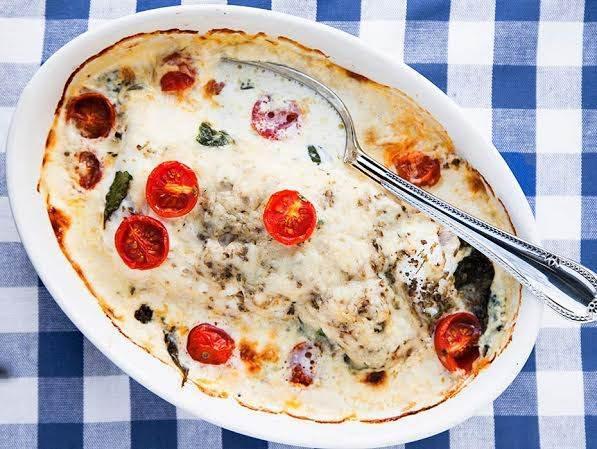 Fiskgratäng med ost och örter - Recept - Tasteline.com