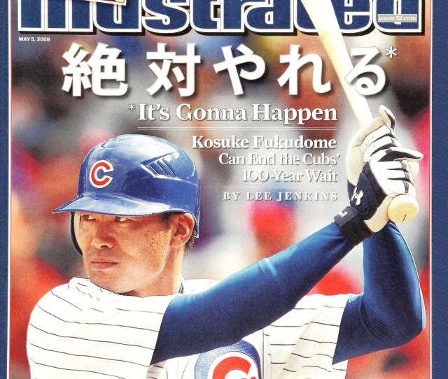 Over A Photo Of Fukudome The Magazine Splashed Text In English And Japanese Reading Its Gonna Happen Underneath That The Cover Read Kosuke Fukudome