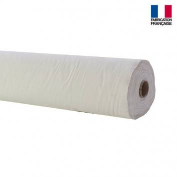 rouleau 20m toile coton ignifugee m1 blanc rouleau 20m toile coton ignifugee m1 blanc