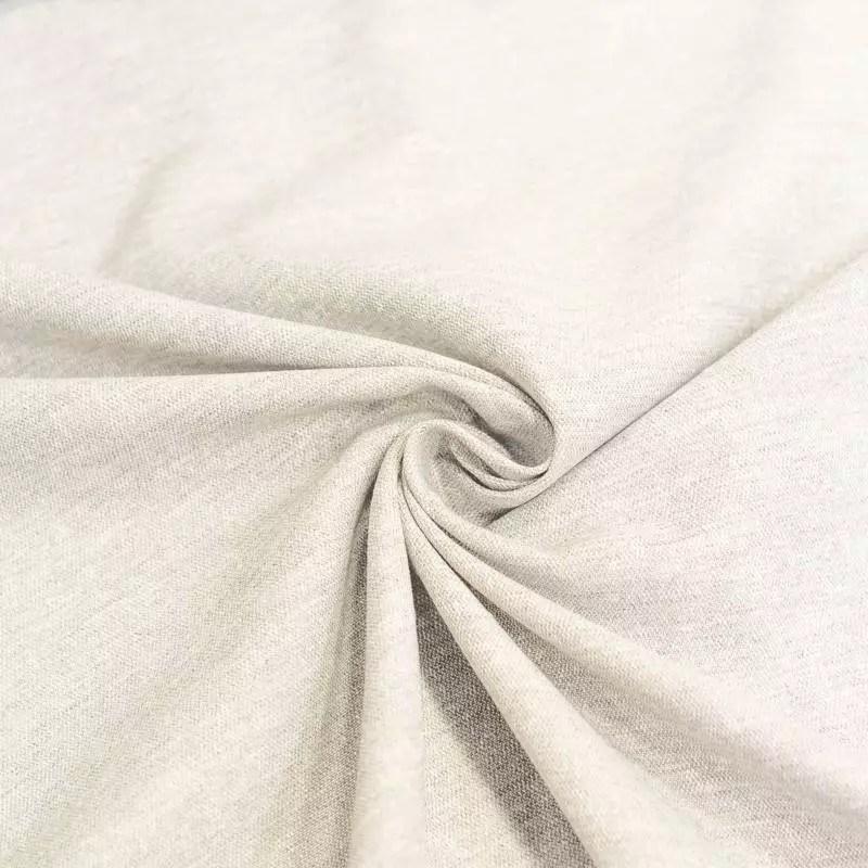 voilage polycoton lin chine creme grande largeur