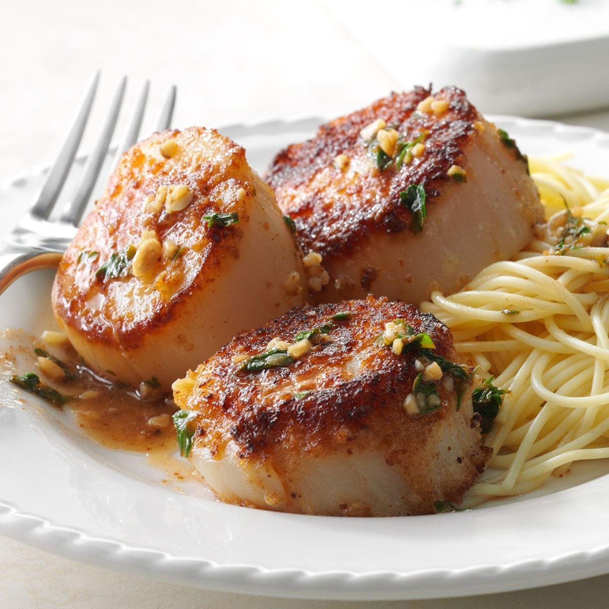 Skillet Sea Scallops Recipe Taste Of Home