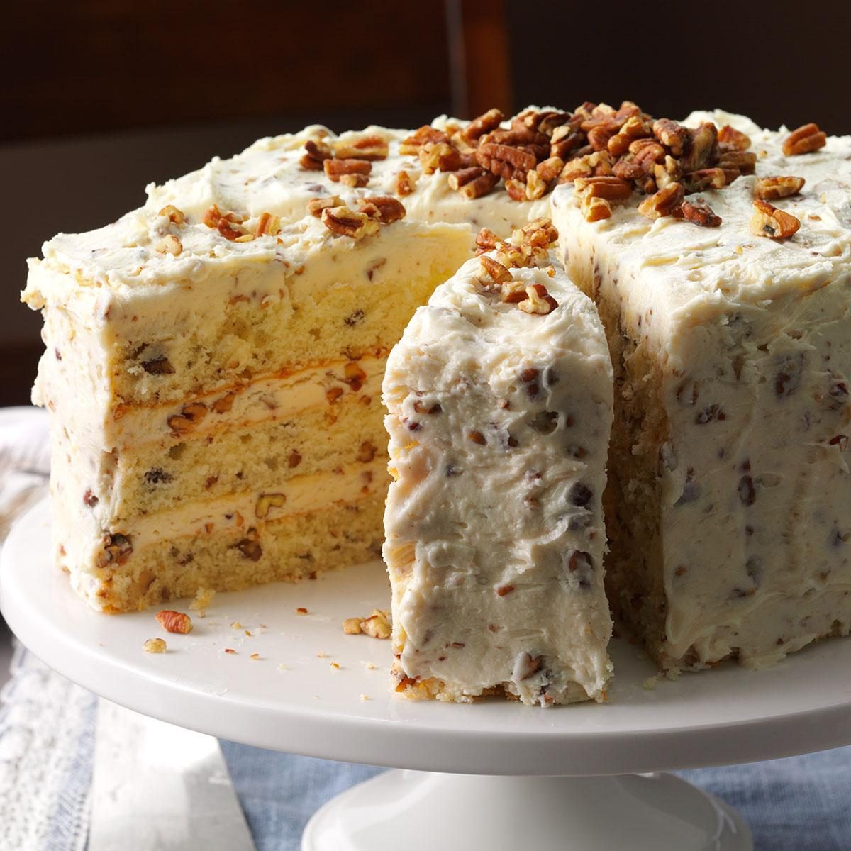 Butter Pecan Layer Cake Recipe