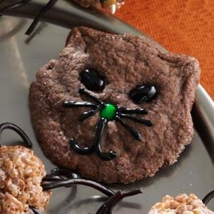 Halloween Black Cat Cookies Recipe