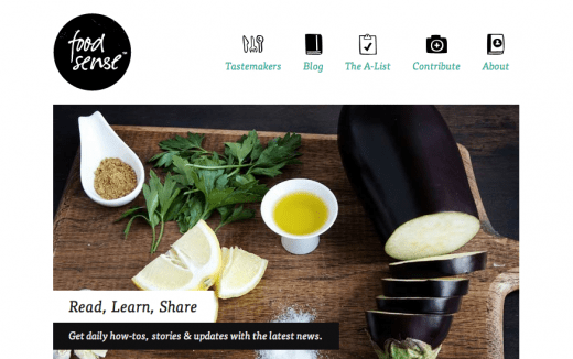 Food Sense Plant Based Eating At Its Best 520x326 10 Beautiful examples of responsive Web design