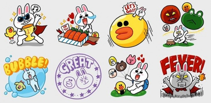line stickers51 730x357 Silicon Valley, you are tardy to the messaging app party