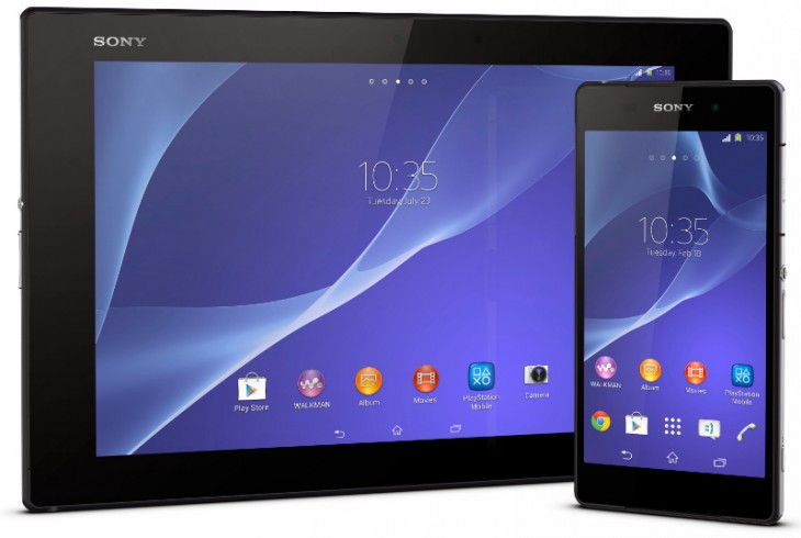 tabletgroup 730x490 Sony launches the Xperia Z2 Tablet, a super slim 10.1 slate with an 8MP camera