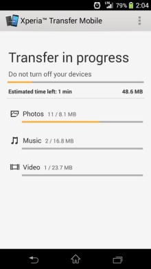 xp Sonys Xperia Transfer Android app lets users import data (and even apps) from an iPhone