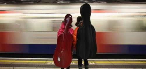 People Travel On London's Underground System