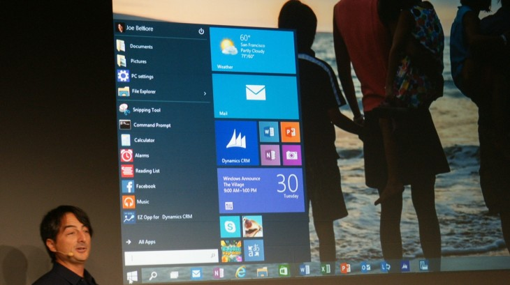 Microsoft 2014 30 730x409 Microsoft announces Windows 10, promises mid 2015 release and Windows Insider Program tomorrow