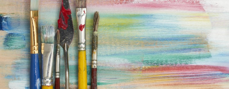 paint brushes colors design