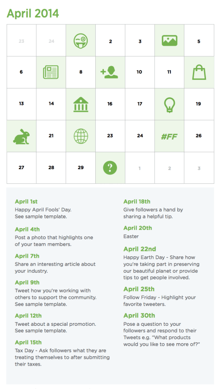 social media content calendar 457x800 How to share to social media when you dont have time