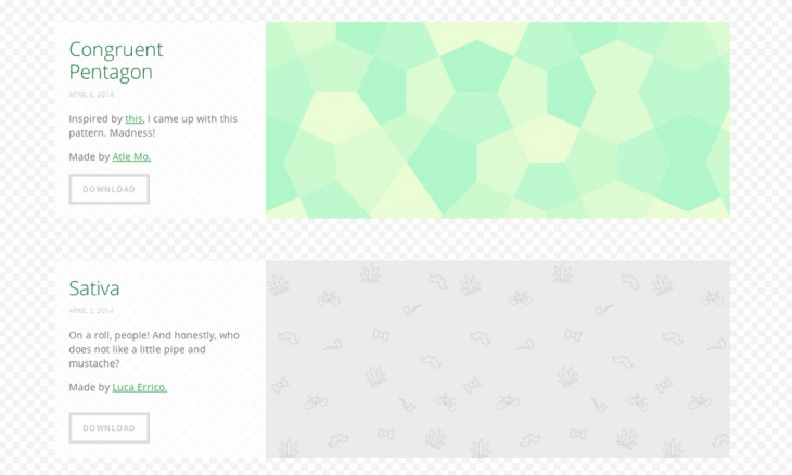 subtlepattern 730x438 40 free resources every designer should know