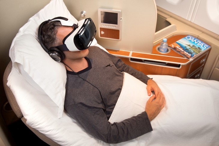 Samsung 2 730x486 Samsungs Gear VR will provide in flight entertainment for first class Qantas passengers