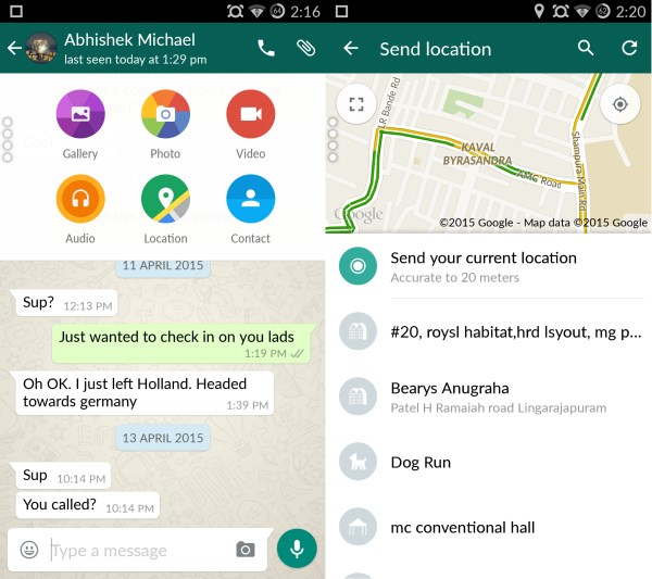 Chat and share location WhatsApp for Android gets a much needed Material Design makeover, bringing cleaner layouts and new icons