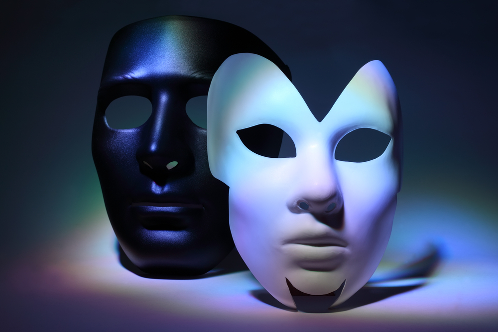 two faced, masks