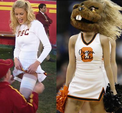 USC Cheerleader and OSU Cheerleader Beaver.jpg