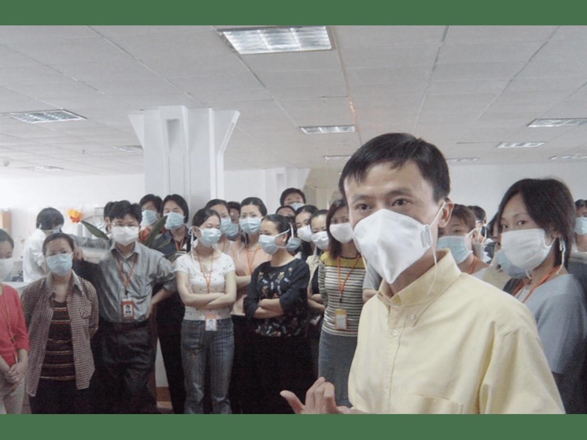 Jack Ma pronuncia discorso ai suoi dipendenti durante SARS