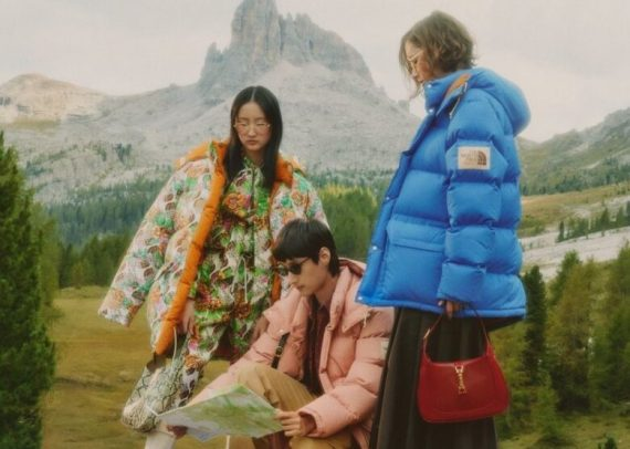 North Face X Gucci campagna glamping in Cina