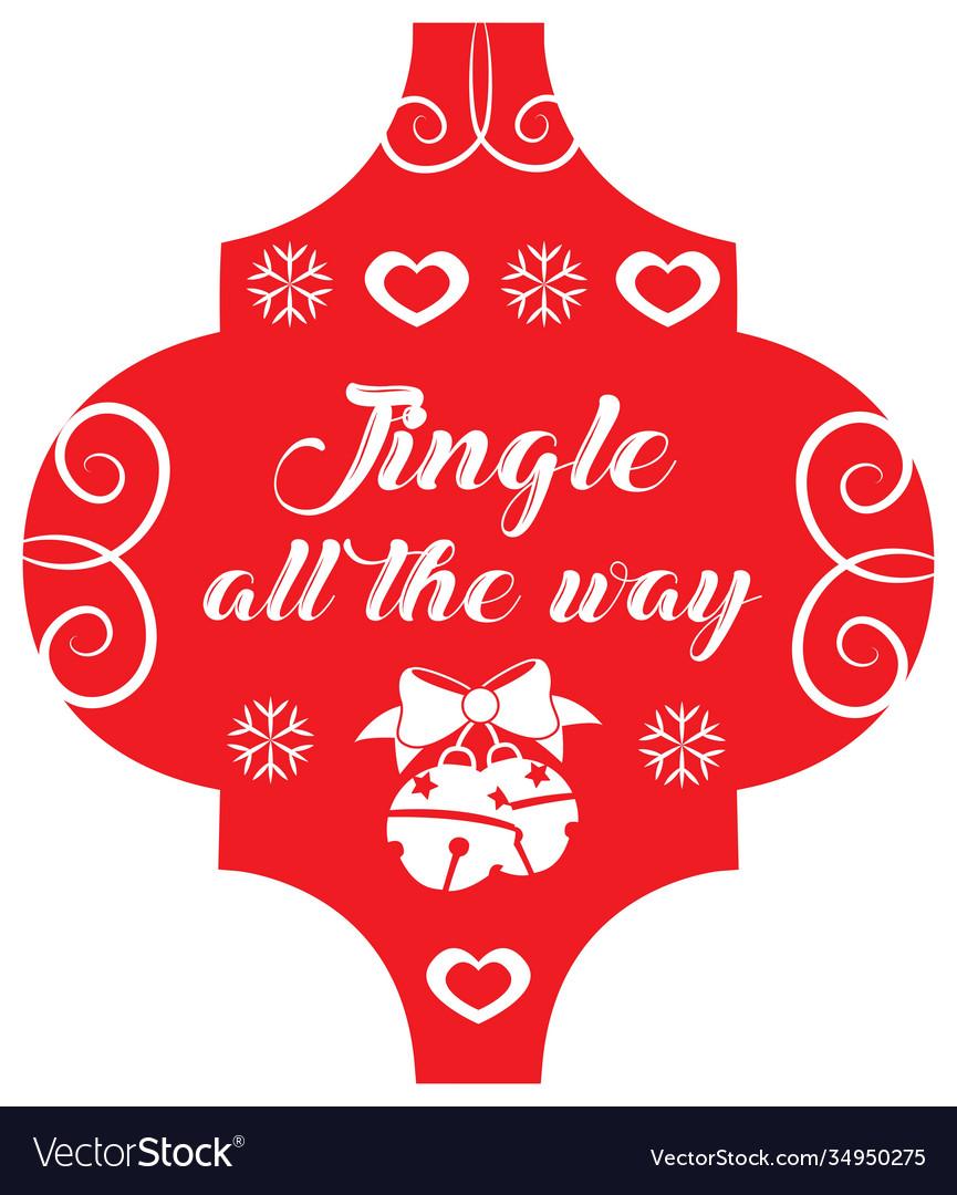 jingle all way arabesque tile christmas royalty free vector