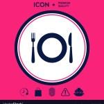 Restaurant Icon Symbol Royalty Free Vector Image