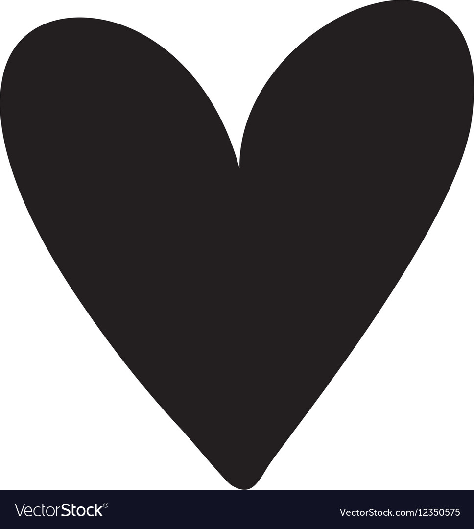 Download Heart love silhouette Royalty Free Vector Image
