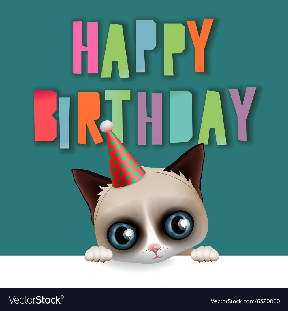 Happy Birthday Cool Cat Birthday Card Birthday Cat Etsy