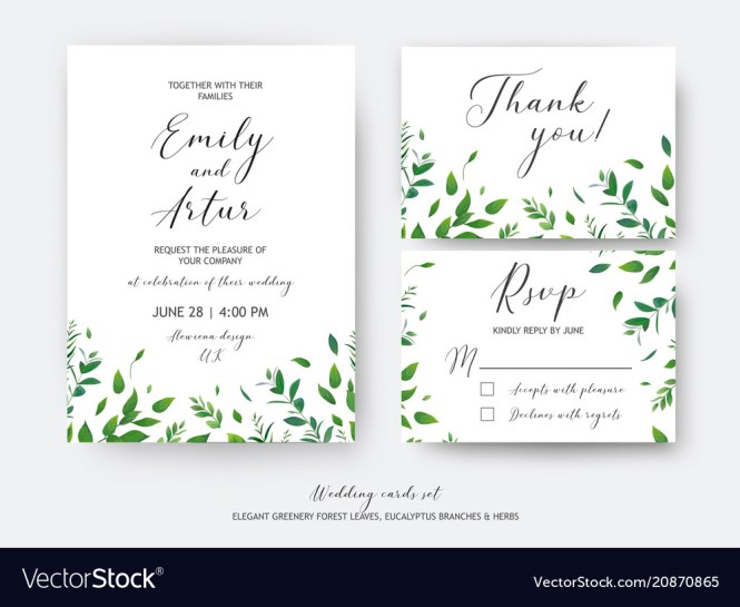 Wedding Invite Invitation Rsvp Thank You Cards