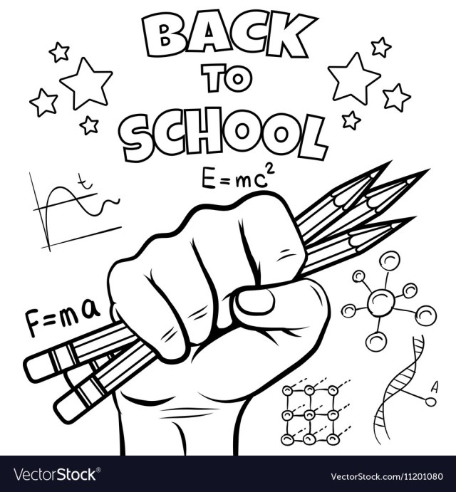 Back to school coloring page Royalty Free Vector Image