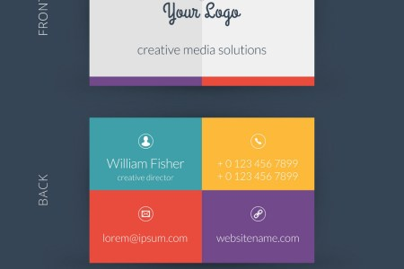 Modern creative business card template Flat design Modern creative business card template Flat design vector image