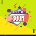 Opening Soon Banner Creative Royalty Free Vector Image