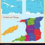Trinidad And Tobago Map Royalty Free Vector Image