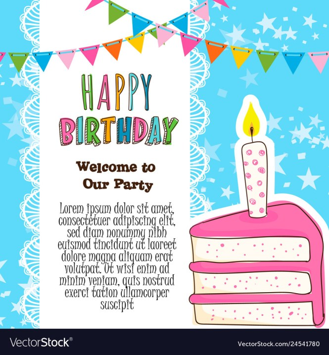 Hy Birthday Invitation Card Royalty