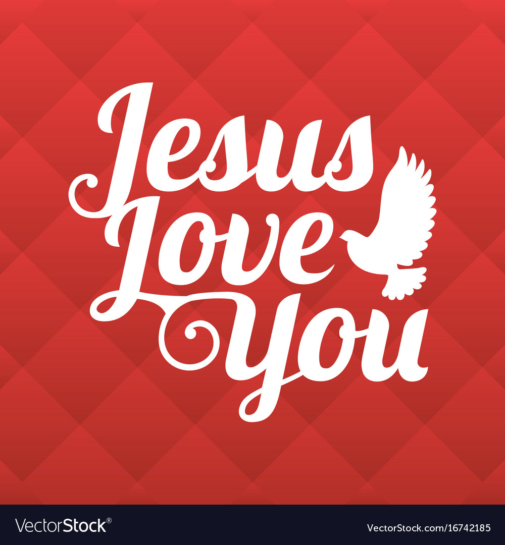 Download Typography jesus love you Royalty Free Vector Image