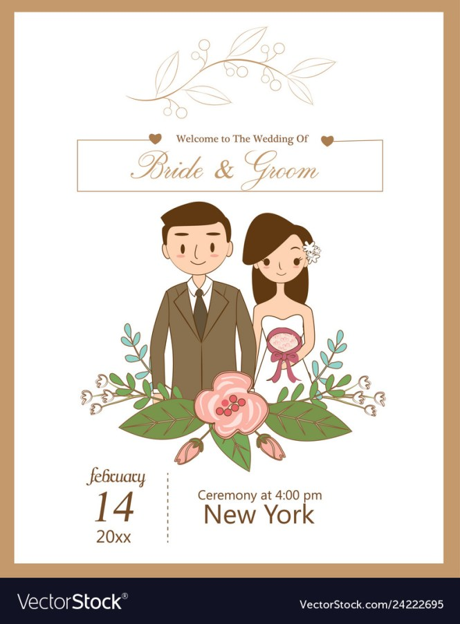 Cute Wedding For Invitations Card
