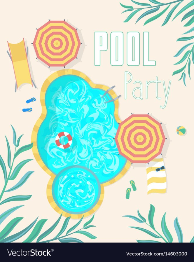 Summer Pool Party Invitation Posters