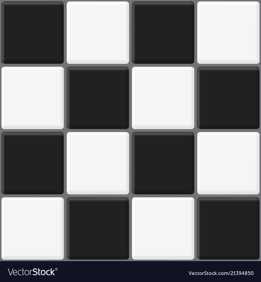black and white tiles seamless texture abstract vector image