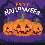 Happy Halloween Pumpkins Royalty Free Vector Image